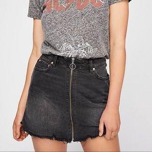 Free People Black Zip Up Skirt (NWT!)